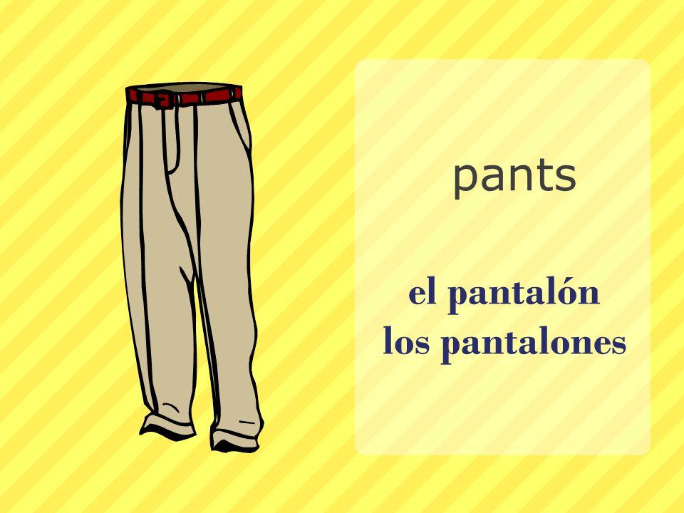 el pantalón los pantalones pants