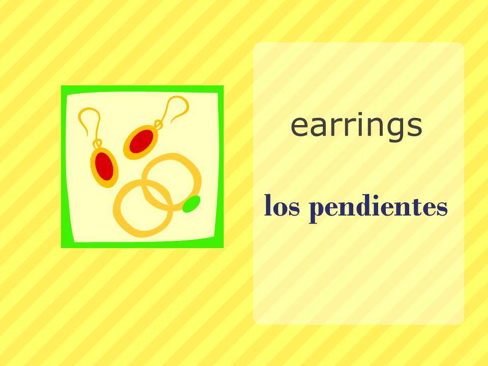 los pendientes earrings