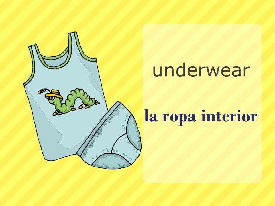 la ropa interior underwear