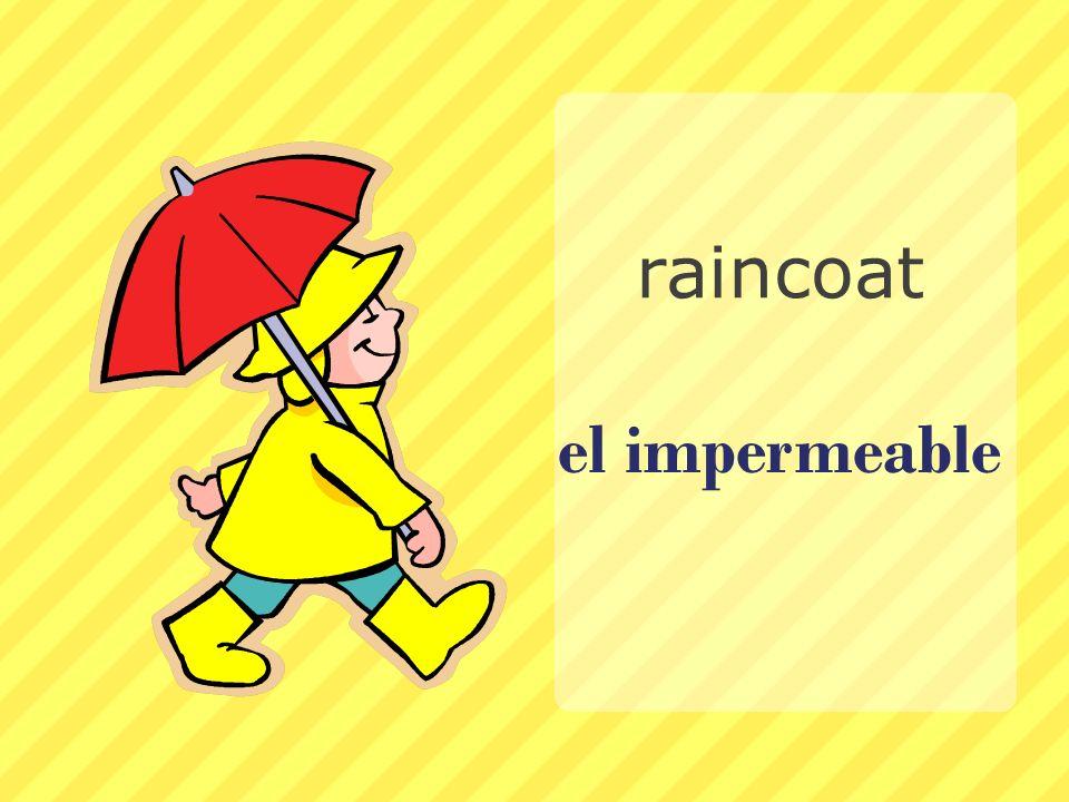 el impermeable raincoat