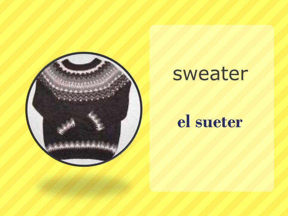el sueter sweater