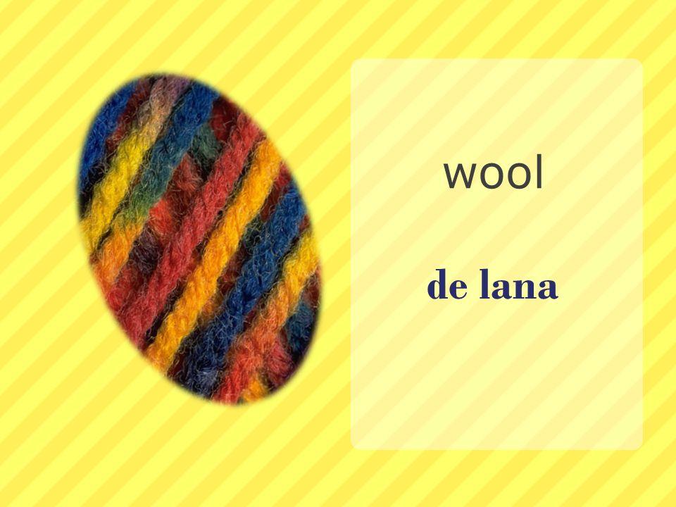de lana wool