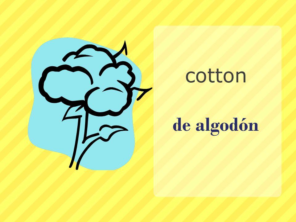 de algodón cotton
