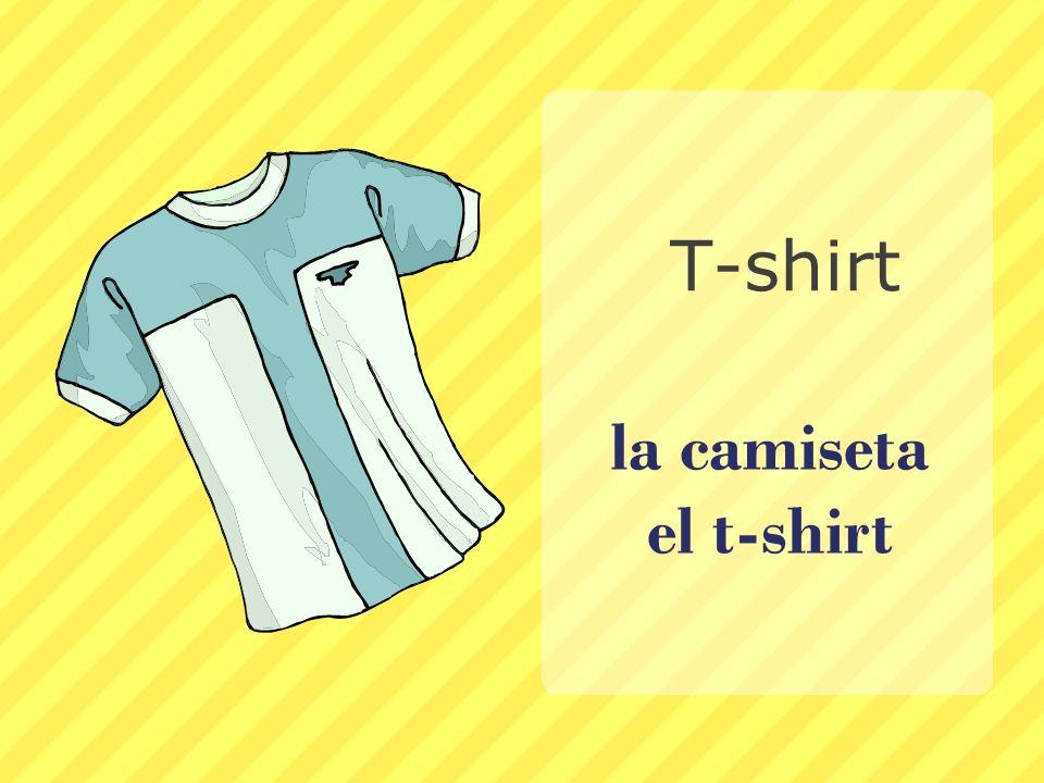 la camiseta el t-shirt T-shirt