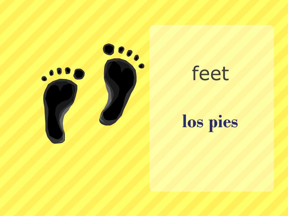 los pies feet