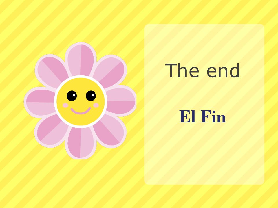 El Fin The end