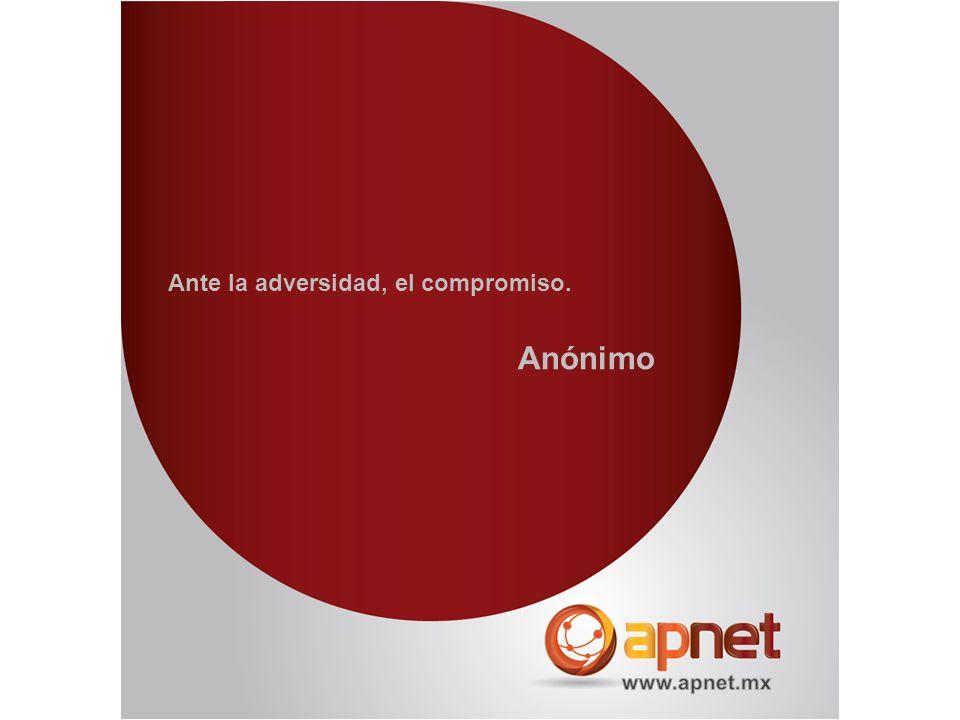 Ante la adversidad, el compromiso. Anónimo