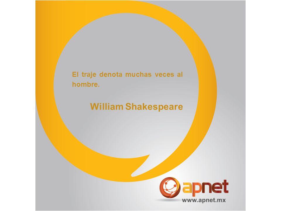 El traje denota muchas veces al hombre. William Shakespeare