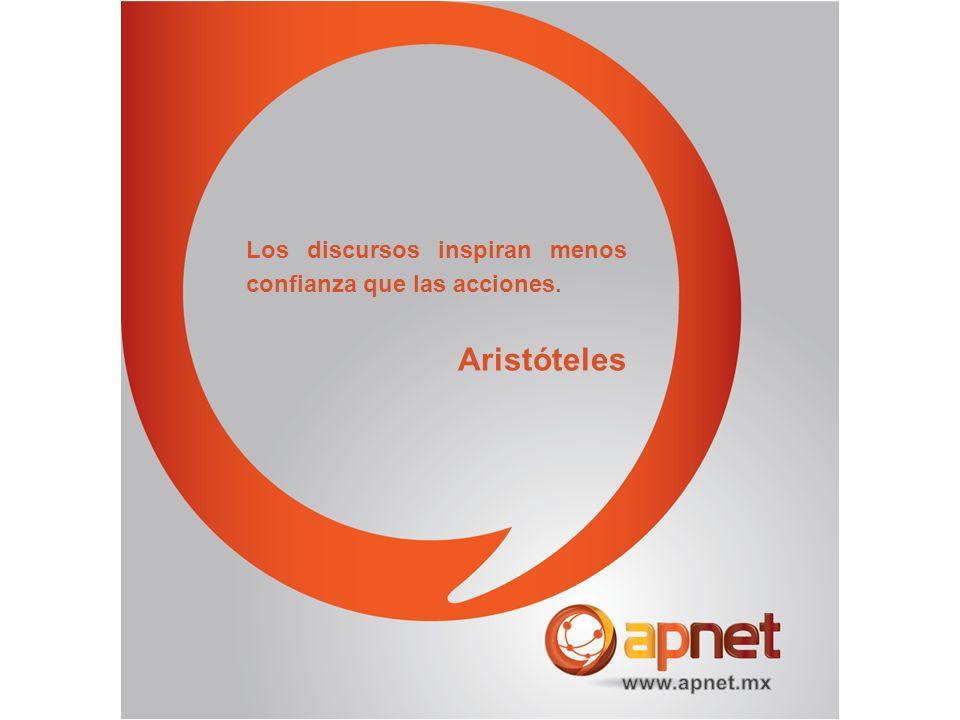 Los discursos inspiran menos confianza que las acciones. Aristóteles
