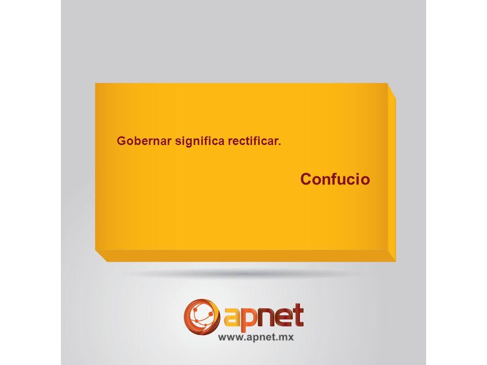 Gobernar significa rectificar. Confucio