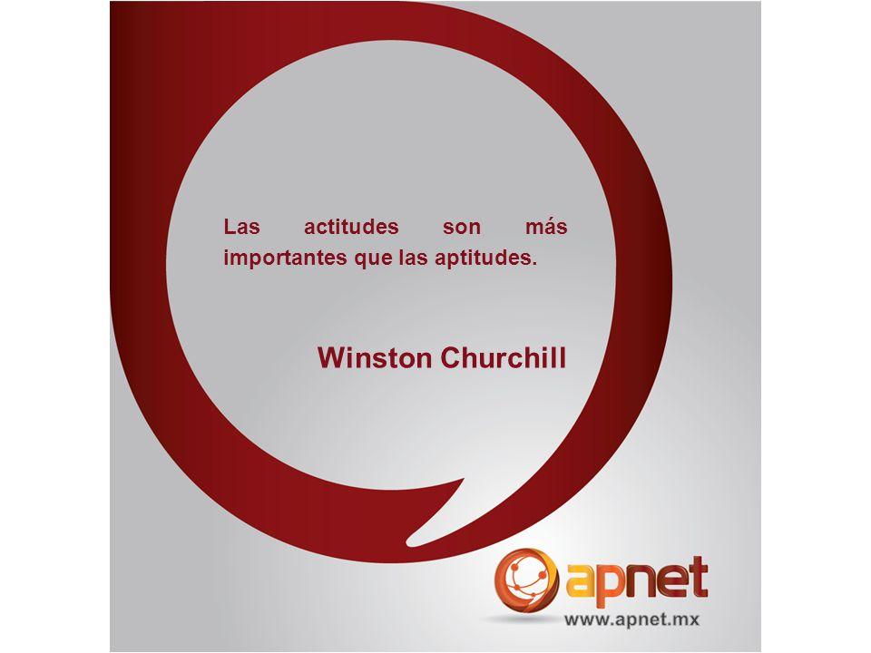 Las actitudes son más importantes que las aptitudes. Winston Churchill