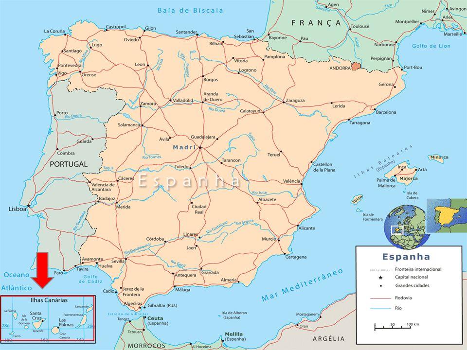 Localización De Las Islas De Canarias