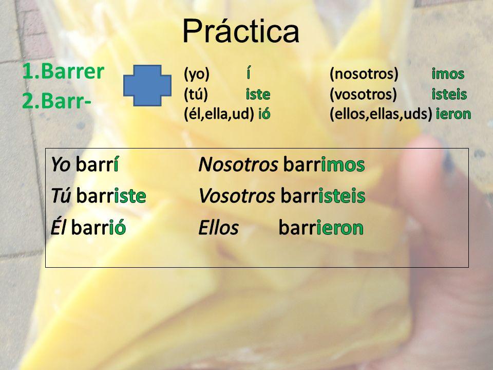 Práctica 1.Barrer 2.Barr-