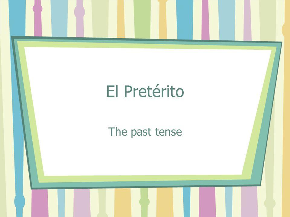 12 (-er / -ir verbs) escribí escribiste escribió escribimos escribisteis escribieron Por ejemplo: escribir