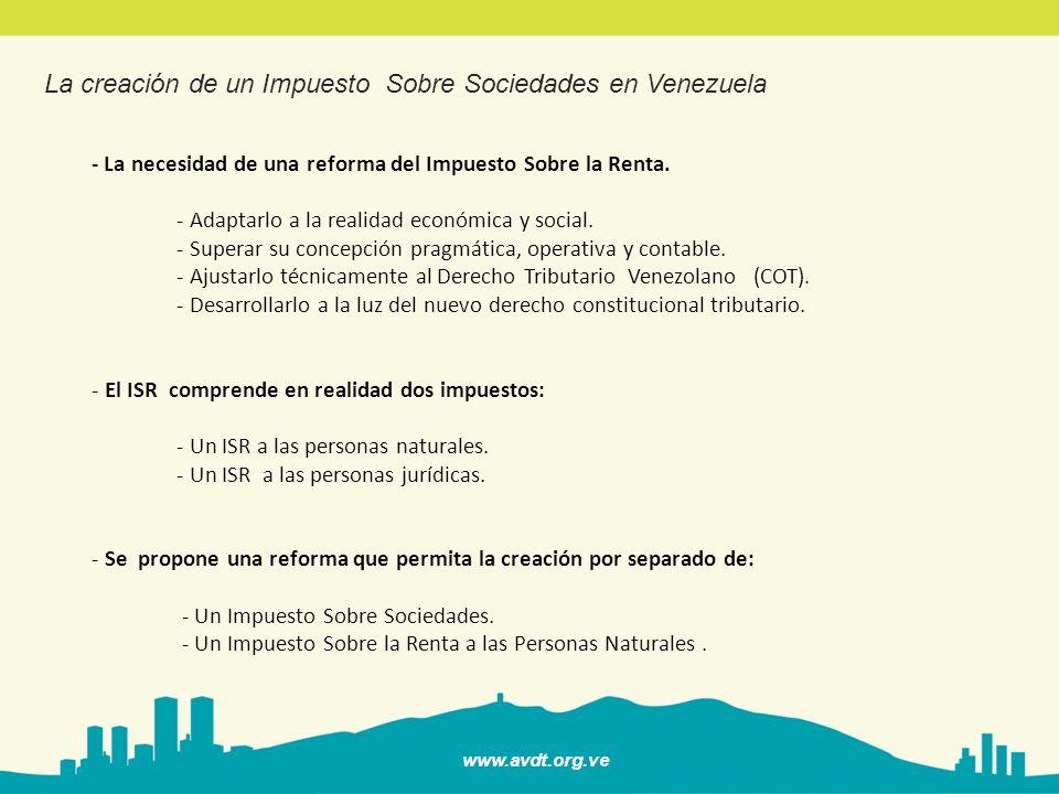 www.avdt.org.ve - El Impuesto Sobre Sociedades : una realidad en el derecho Comparado.