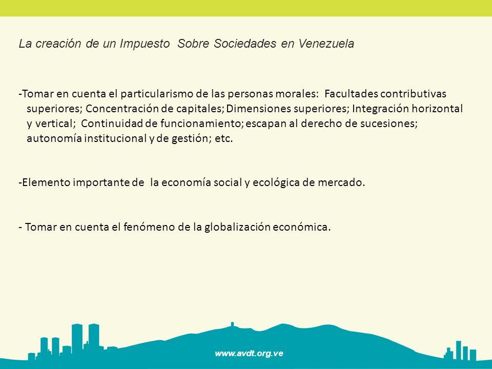 www.avdt.org.ve El Impuesto Sobre la Renta de las Personas Naturales.