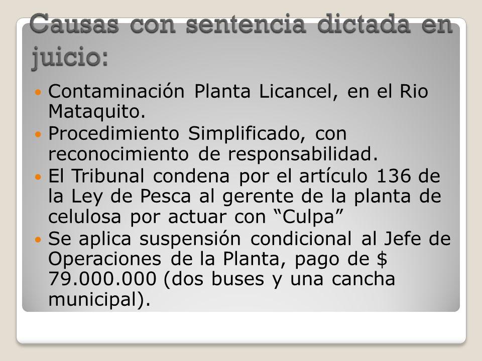 Contaminación Planta Licancel, en el Rio Mataquito. Procedimiento Simplificado, con reconocimiento de responsabilidad. El Tribunal condena por el artí