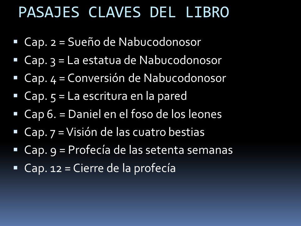 PASAJES CLAVES DEL LIBRO Cap.2 = Sueño de Nabucodonosor Cap.