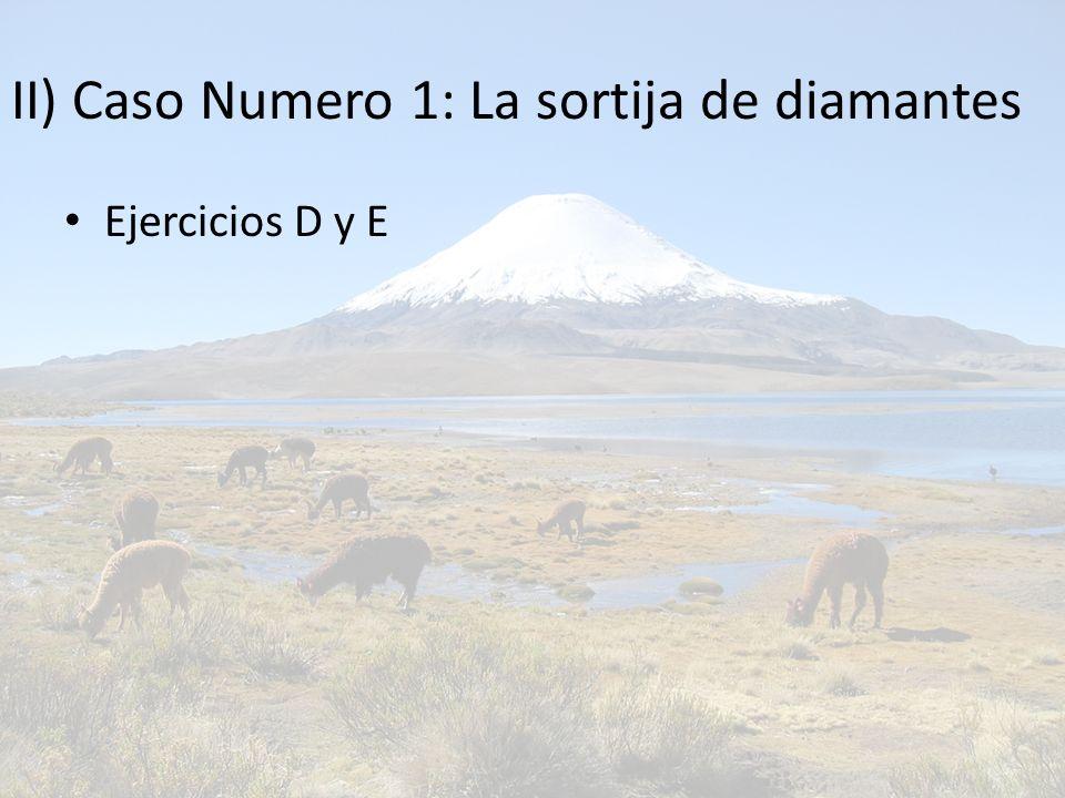 II) Caso Numero 1: La sortija de diamantes Ejercicios D y E