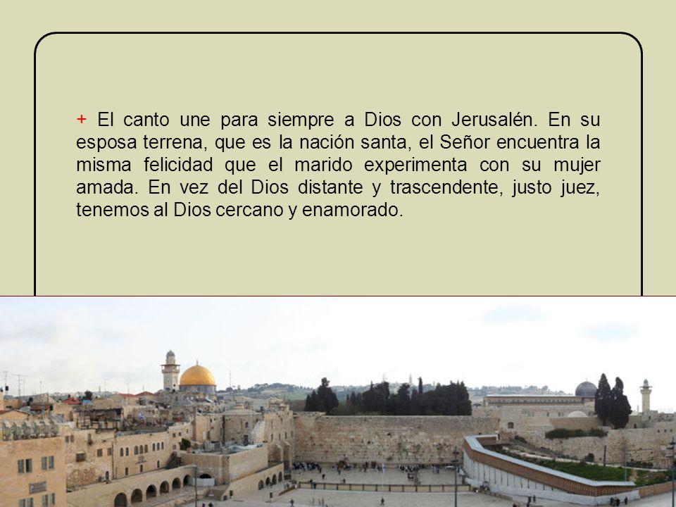 El nuevo nombre que tomará la esposa Jerusalén, destinada a representar a todo el pueblo de Dios, se ilustra mediante el contraste que el profeta espe