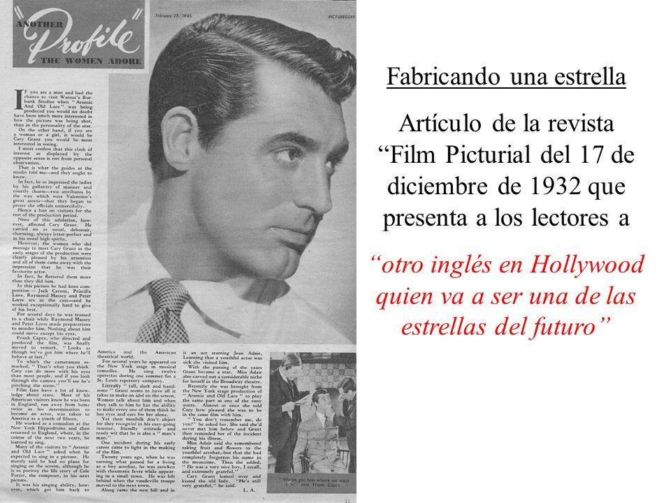 Fabricando una estrella Artículo de la revista Film Picturial del 17 de diciembre de 1932 que presenta a los lectores a otro inglés en Hollywood quien va a ser una de las estrellas del futuro