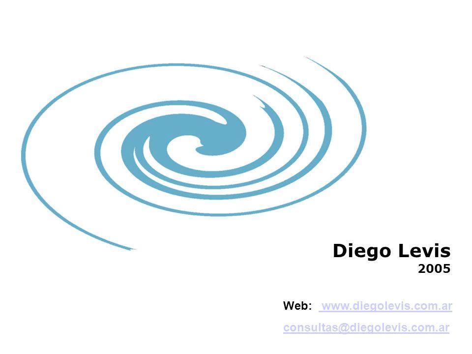 Web: www.diegolevis.com.ar www.diegolevis.com.ar consultas@diegolevis.com.ar Diego Levis 2005