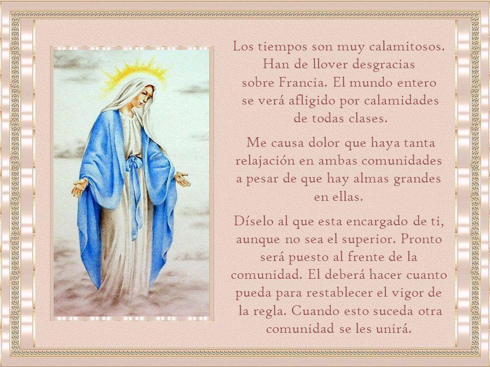 La Virgen también le explicó el significado de todas las apariciones y revelaciones que había tenido de San Vicente y del Señor.
