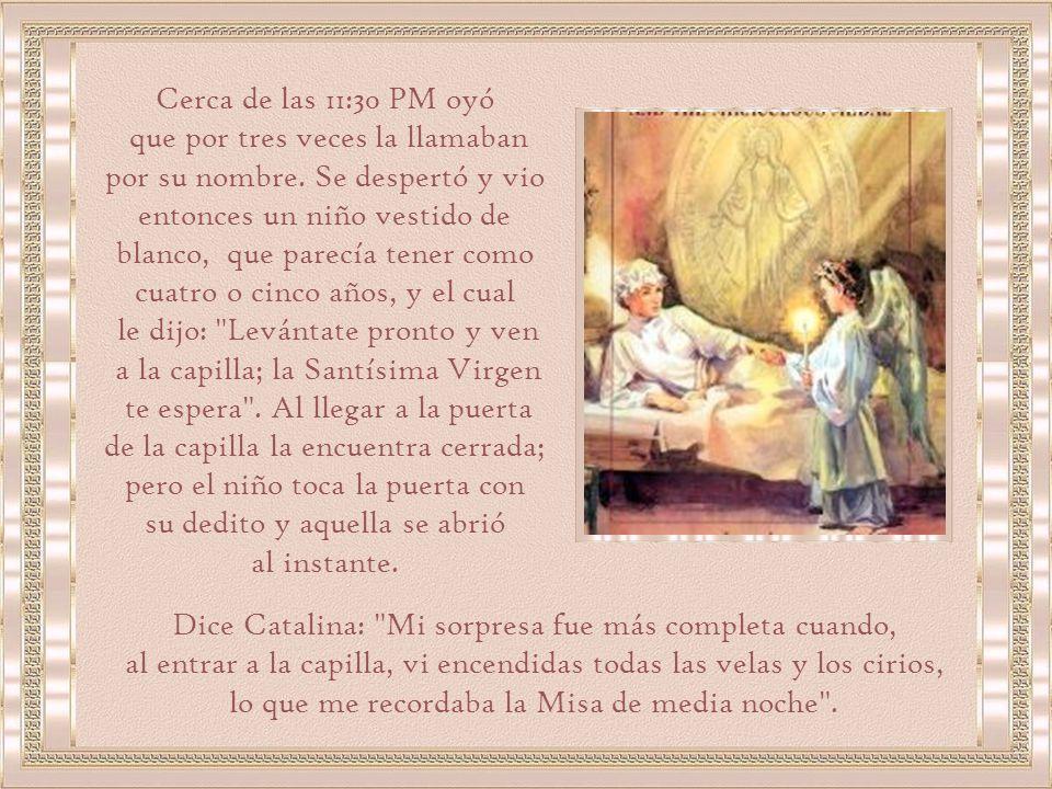 Como era víspera de San Vicente, les habían distribuido a cada una un pedacito de lienzo de un roquete del santo.