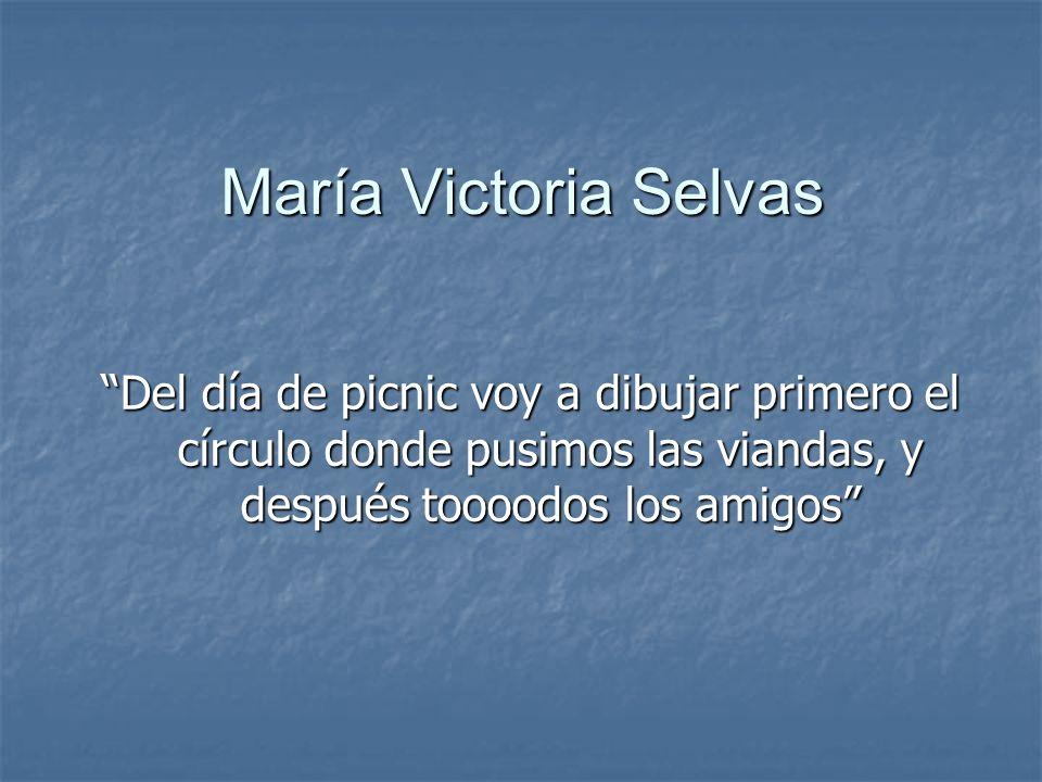 María Victoria Selvas Del día de picnic voy a dibujar primero el círculo donde pusimos las viandas, y después toooodos los amigos