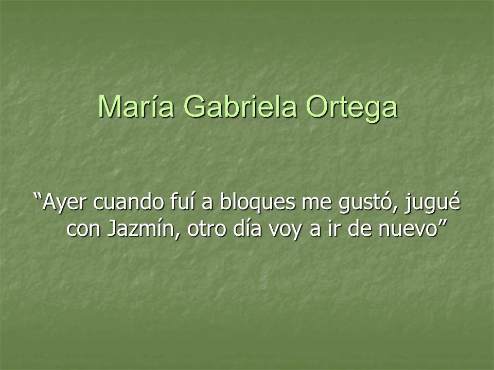 María Gabriela Ortega Ayer cuando fuí a bloques me gustó, jugué con Jazmín, otro día voy a ir de nuevo