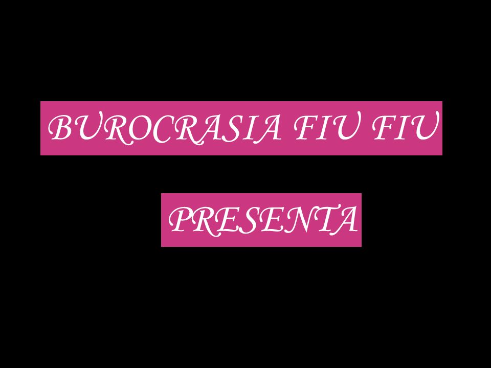 BUROCRASIA FIU FIU PRESENTA