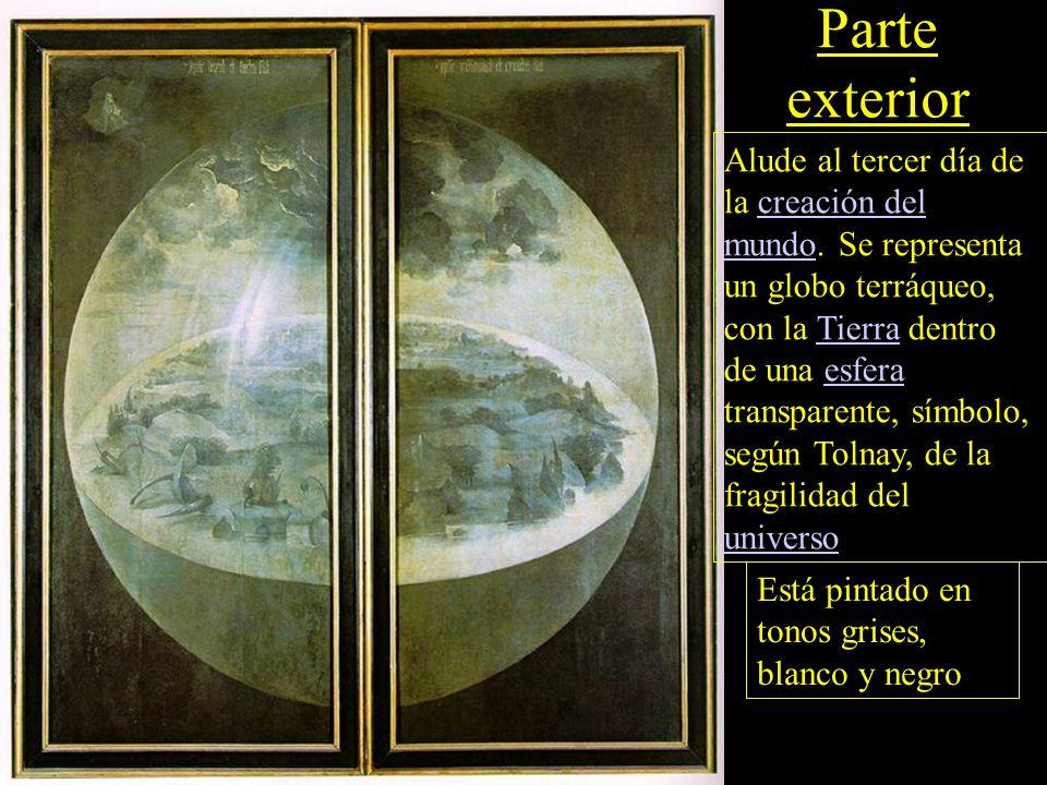 Parte exterior Alude al tercer día de la creación del mundo.