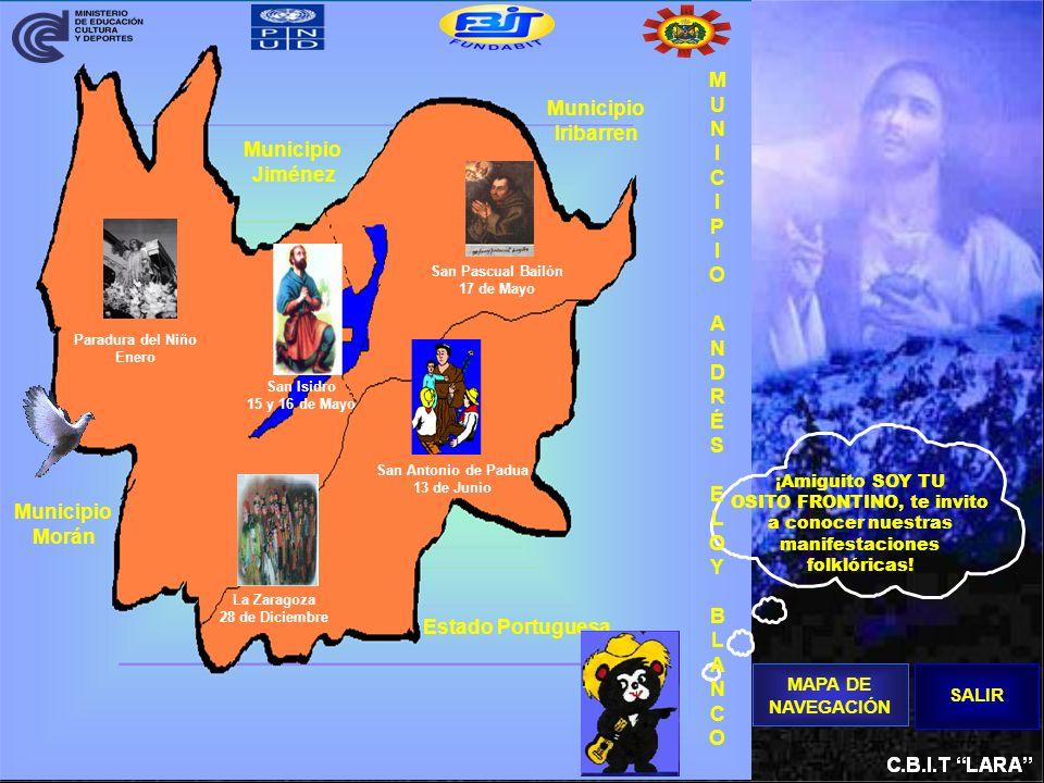 ¡Amiguito SOY TU OSITO FRONTINO, te invito a conocer nuestras manifestaciones folklóricas! Municipio Jiménez Municipio Morán Estado Portuguesa Municip