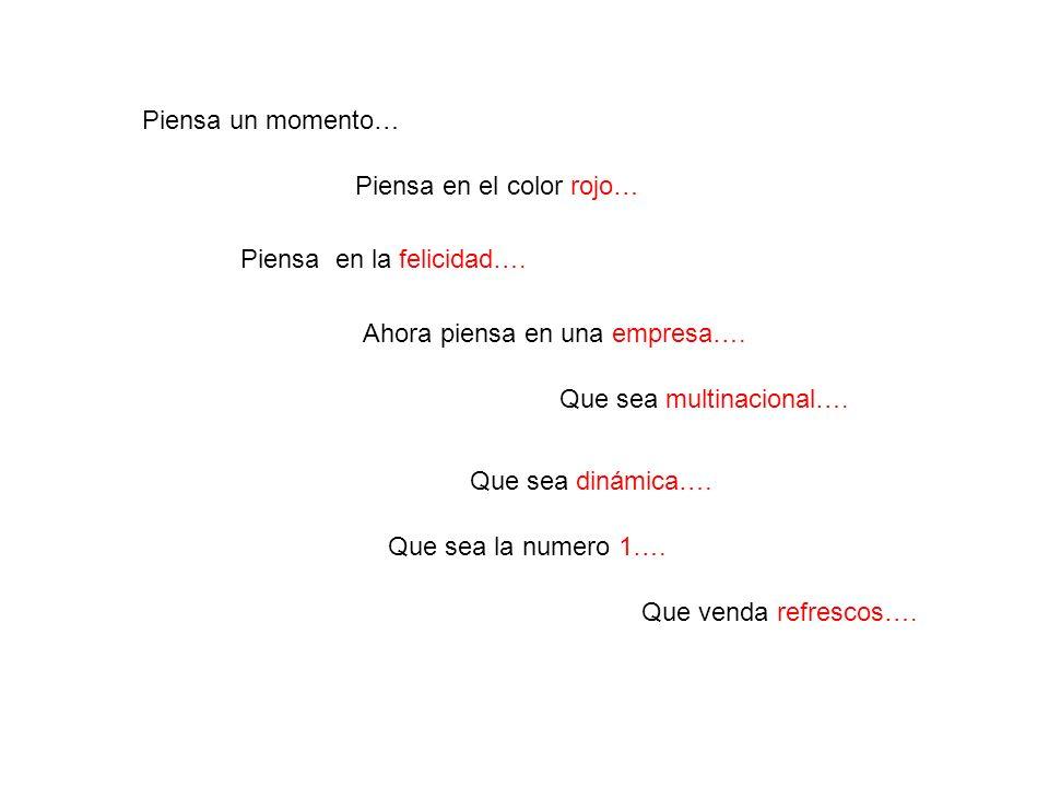 Piensa un momento… Piensa en el color rojo… Piensa en la felicidad….