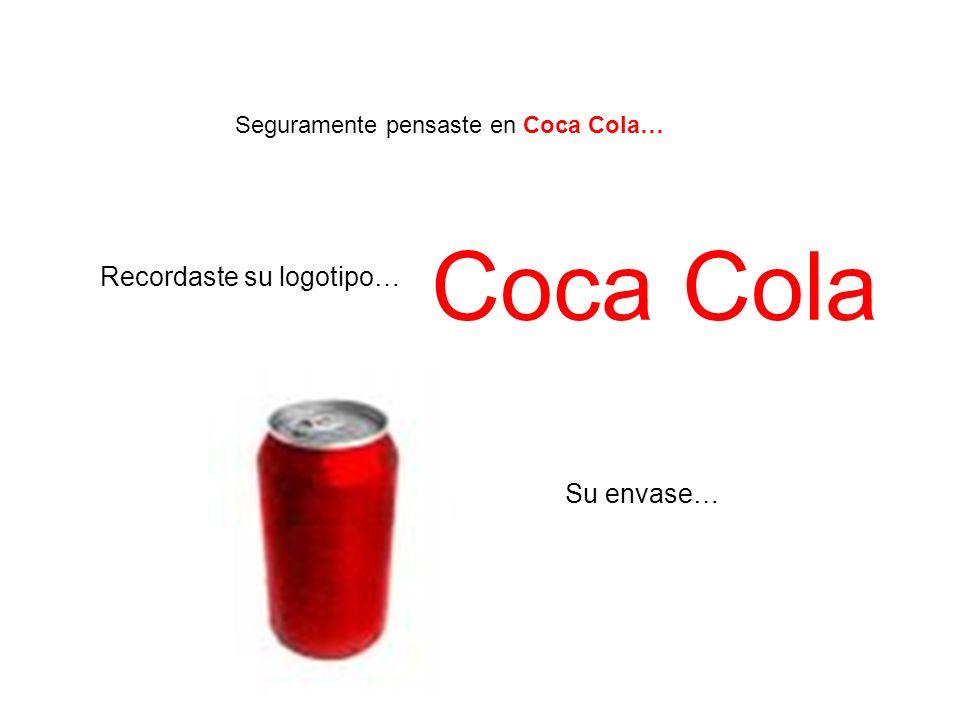 Seguramente pensaste en Coca Cola… Recordaste su logotipo… Su envase… Coca Cola
