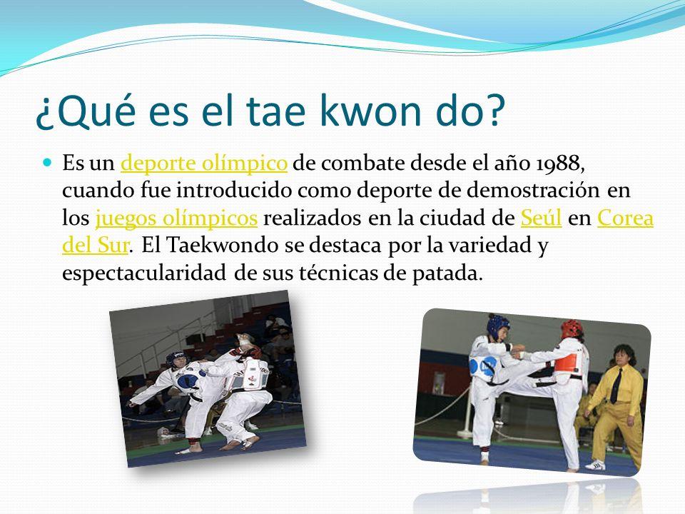 ¿Qué es el tae kwon do? Es un deporte olímpico de combate desde el año 1988, cuando fue introducido como deporte de demostración en los juegos olímpic