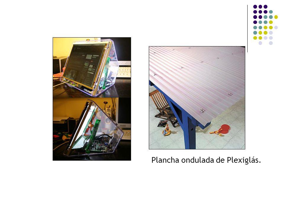 Plancha ondulada de Plexiglás.