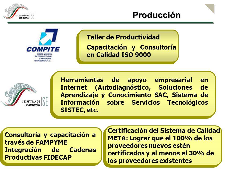 Estudios de Mercado Fundamentos de negocios Capacitación y asesoría Sistema de información sobre tendencias de mercado Sistema Nacional de Información e Integración de Mercados SNIIM Mercadotecnia