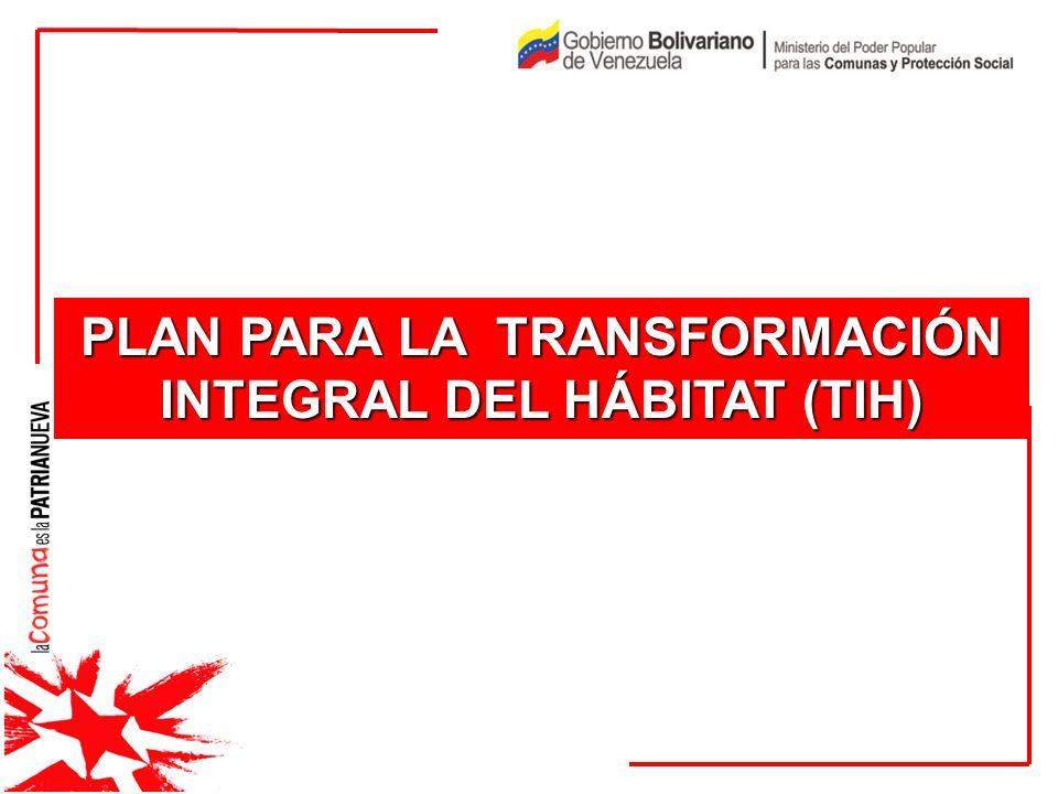 PLAN PARA LA TRANSFORMACIÓN INTEGRAL DEL HÁBITAT (TIH)
