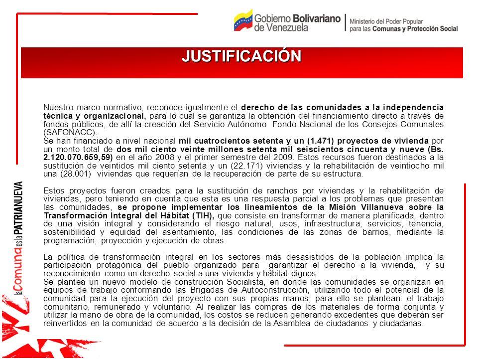JUSTIFICACIÓN JUSTIFICACIÓN Nuestro marco normativo, reconoce igualmente el derecho de las comunidades a la independencia técnica y organizacional, pa