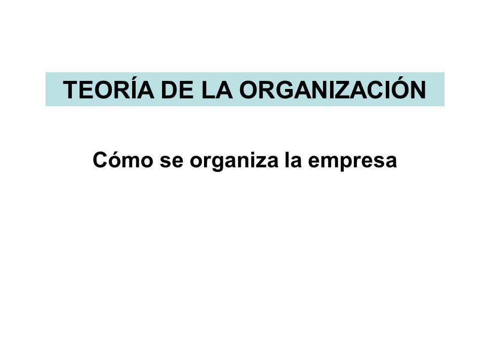 TEORÍA DE LA ORGANIZACIÓN Cómo se organiza la empresa