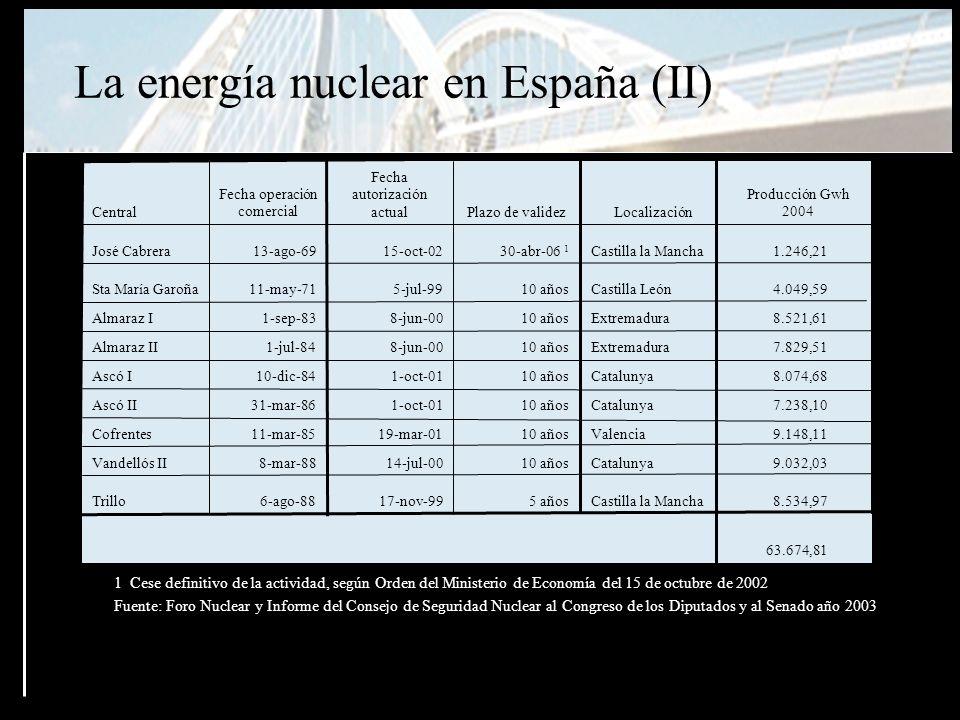 Ideas básicas para un plan creíble y realizable Si no tenemos un plan alternativo de sustitución de las centrales nucleares que están en funcionamiento no se cerrarán, ya que producen un cantidad significativa (24%) del total de Kw/hora que cubre la demanda eléctrica Actualmente la única sustitución posible que ayuda a cumplir con los compromisos de Kyoto y, a la vez, es sostenible es la energía renovable Se debe pactar ahora el cómo, el cuándo y en qué condiciones se debe realizar un cierre nuclear definitivo, programado y con la certeza de su efectividad