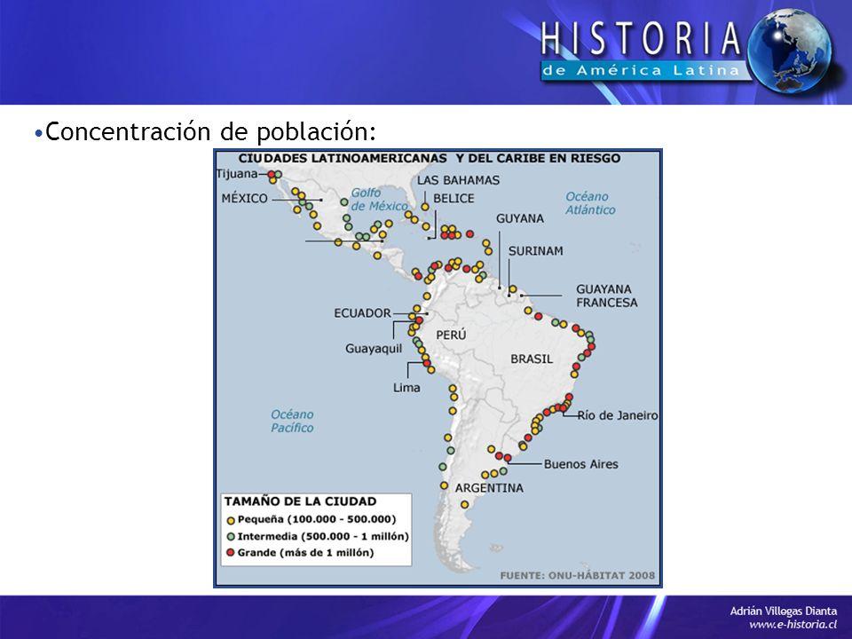Concentración de población: