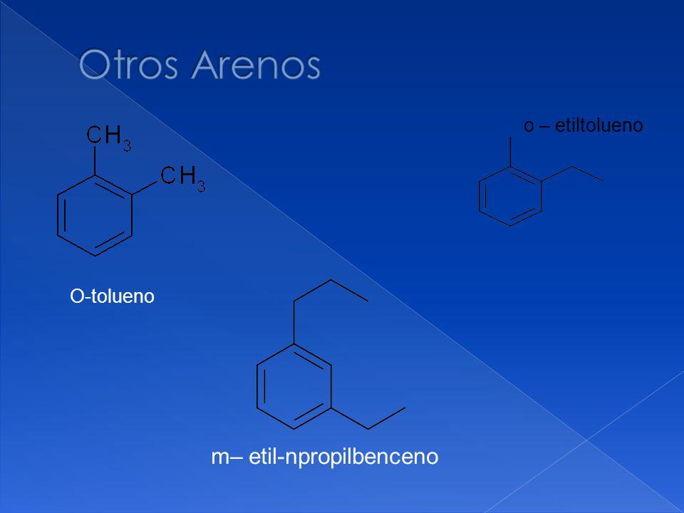 O-tolueno o – etiltolueno m– etil-npropilbenceno