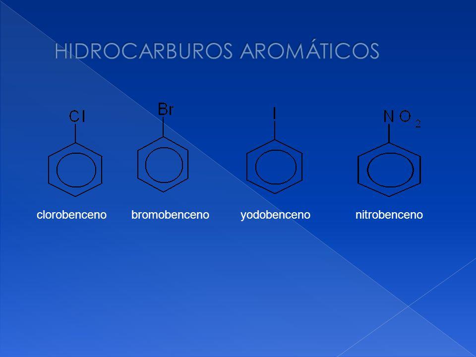 clorobenceno bromobenceno yodobenceno nitrobenceno