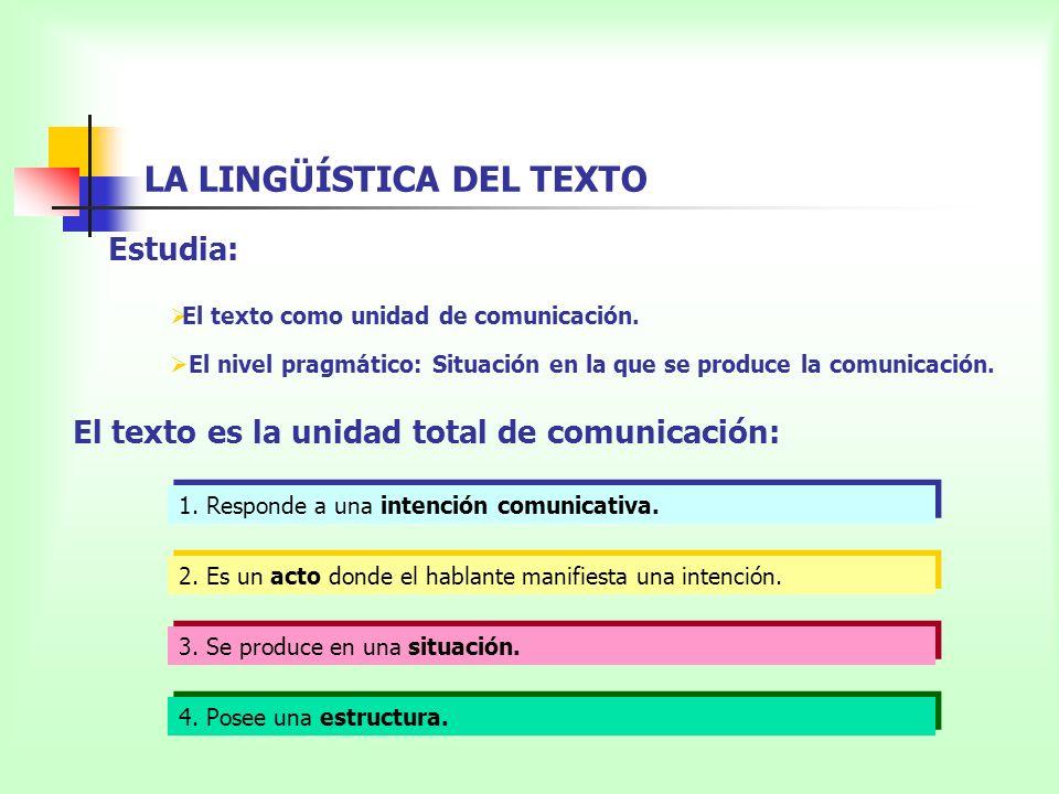 PROPIEDADES TEXTUALES La adecuación: La coherencia: La cohesión: Elección de las posibilidades lingüísticas más apropiadas para la situación.