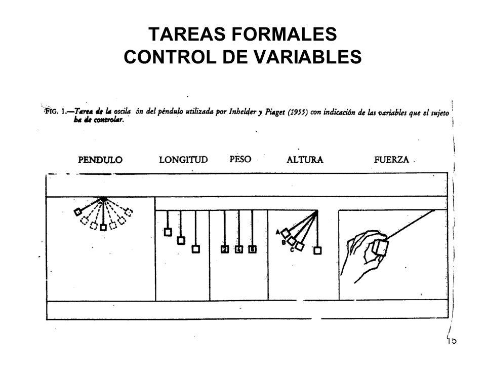 14 TAREAS FORMALES CONTROL DE VARIABLES