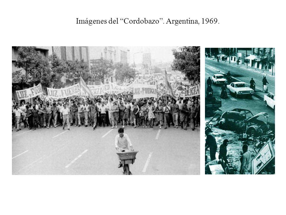 Imágenes del Cordobazo. Argentina, 1969.
