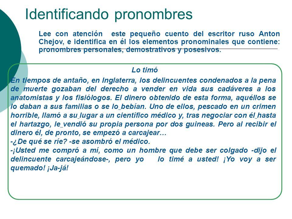 Pronombres posesivos Los pronombres posesivos indican la relación de posesión o pertenencia con las personas gramaticales.