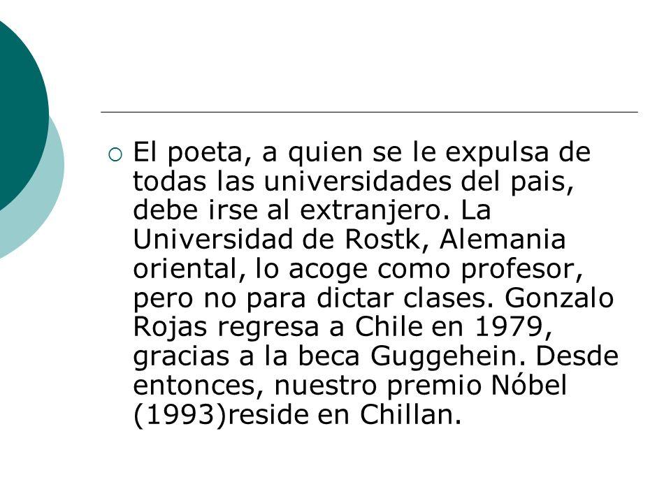 Lea el siguiente texto y luego identifica todos los elementos que conforman la cadena referencial del elemento temático Gonzalo Rojas Gonzalo Rojas nace el 20 de diciembre de 1917 en el puerto de Lebu.